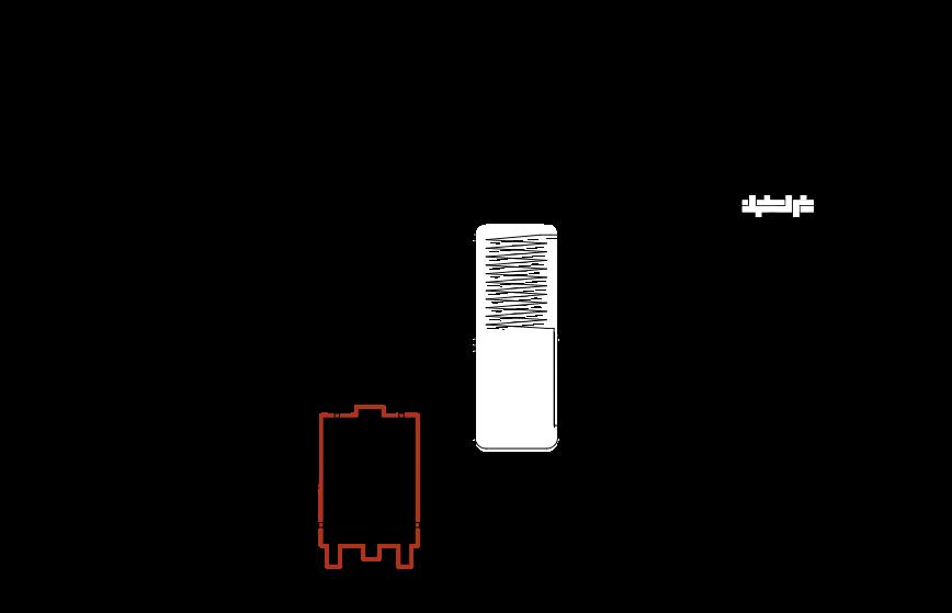 Turbokominek UZ + pompa ciepła split + bufor ciepła