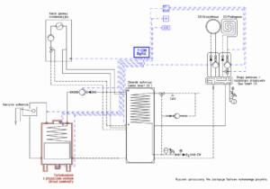 Schemat podłączenia Turbokominka z automatyką T-COM Digital